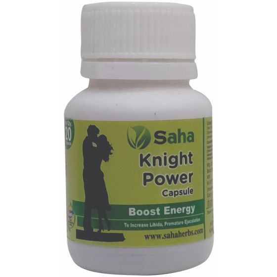 Saha Knight Power Capsule (20 Caps) Helpful For Sexual Debility, Prolong Erection And Stamina