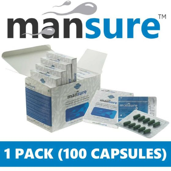 ManSure Male Health Supplement - 1 Pack (100 Capsules)