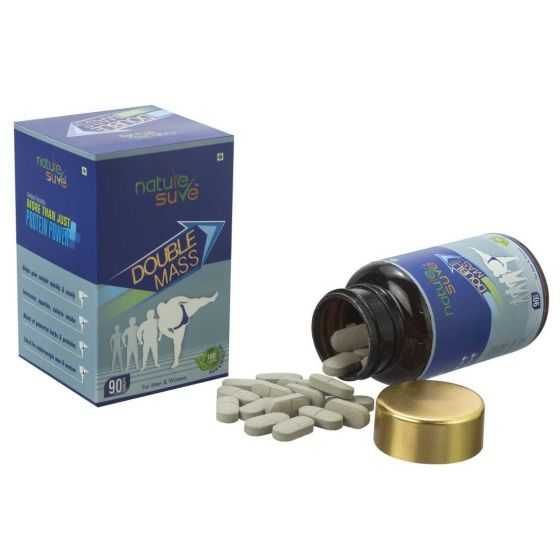 Nature Sure Double Mass Tablets for Weight Gain in Men and Women
