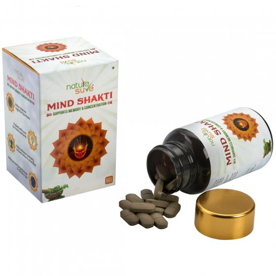 Nature Sure™ Mind Shakti Tablets with Natural Herbs – 1 Pack (60 Tablets)